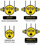 Set of vector icons for website and web design