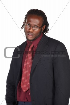 Handsome African businessman