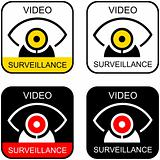 "Signs ""Video surveillance"". Set of icons."