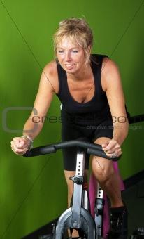 Mature woman spinning