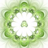 Abstract background. Green - white palette.
