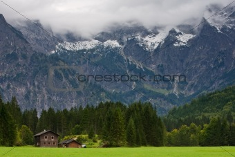 Totes Gebirge Mountains from to Almsee