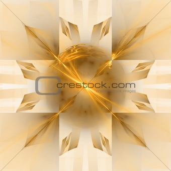 Abstract background. Gold orange palette.