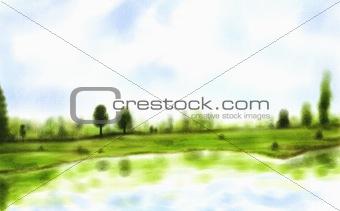 Watercolor Lake
