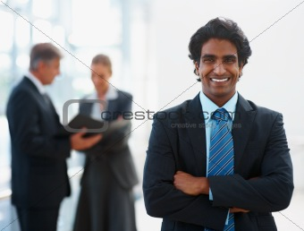 Portrait of a confident Indian business man