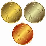 Collection of gold, silver and bronze medals