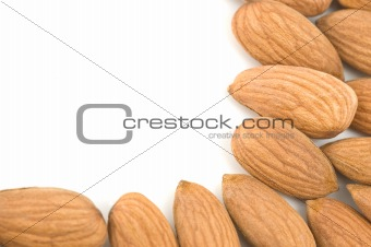 Almonds border.