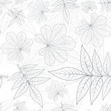 Leafs Silhouette Seamless Pattern