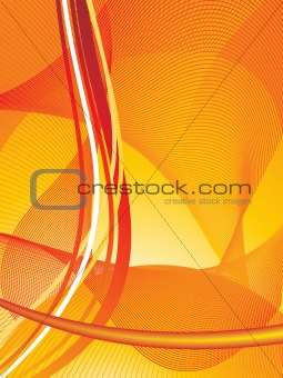Abstract orange Lines Design