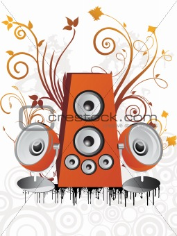 illustration- speaker background