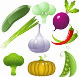 Vegetables set