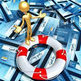 Lifebuoy Credit Crisis Concept