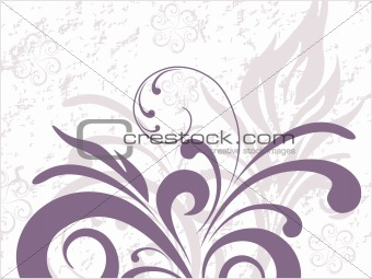 Abstract botanical floral background
