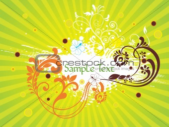 abstract rays background with creative artwork