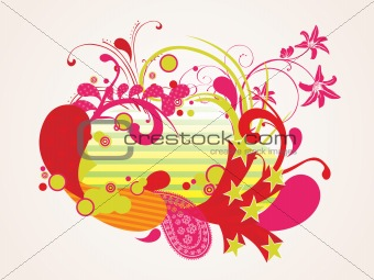 abstract funky pattern background