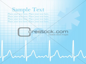 abstract ecg background with heart beat