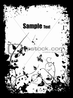 grunge background with artistic design