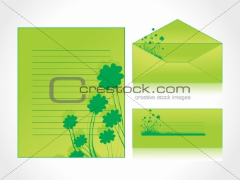 postal card with shamraock floral cover