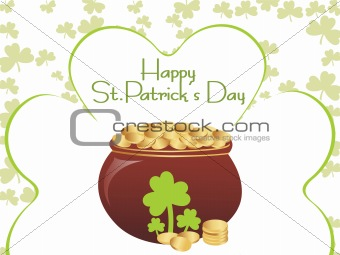 artistic shamrock background with earthenware