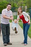 Family Having Fun Playing