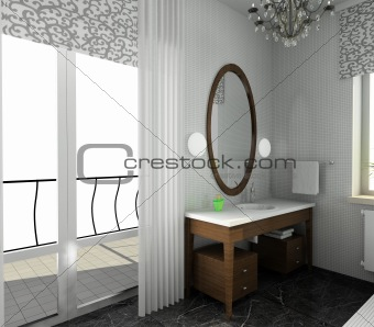 Bathroom. Modern design of interior