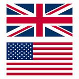 UK and USA flag