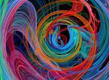colorful spiral design