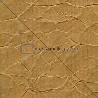 crumpled cardboard texture