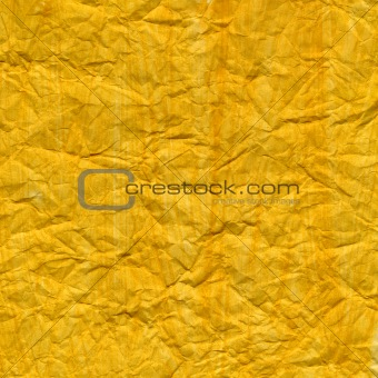 crumpled yellow painted paper texture