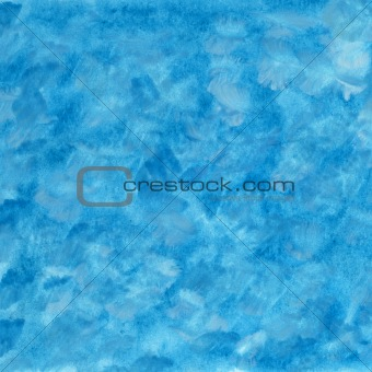 blue and white chaotic watercolor abstract