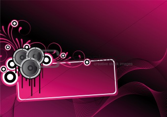 pink abstract disco design
