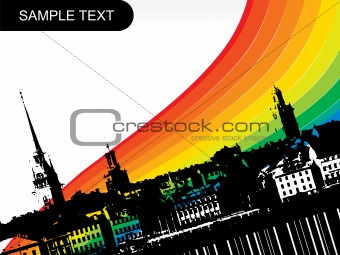 abstract city background, design3
