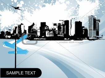 abstract city background, design5