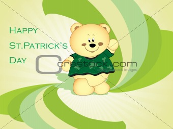 abstract  st. patric day cartoon background