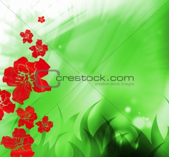 abstract flower creation