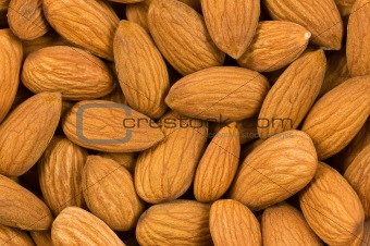 Almond nuts background.