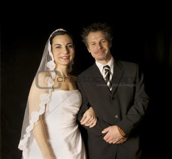 Bride & Groom Smiling