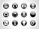 rounded symbol for internet icons, black