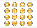rounded yellow web glassy icons