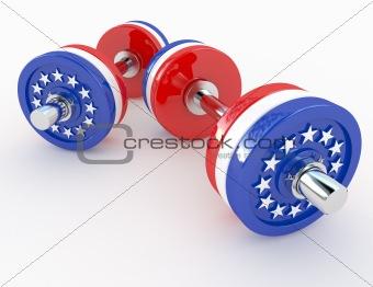 american dumbells