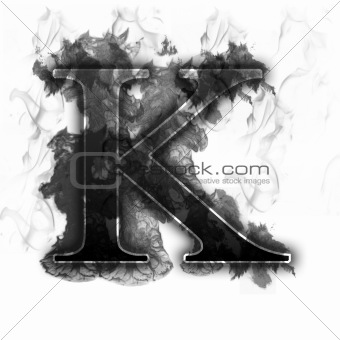 Black Smoke Burning Letter