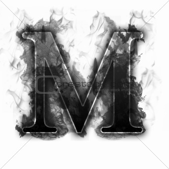 Black Smoke Burning Letter