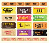 Vintage cinema tickets. BIG COLLECTION.