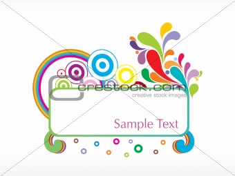 abstract stylish background with circles and swirl