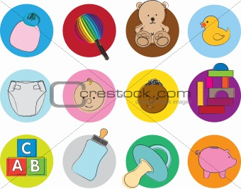 baby illustration set