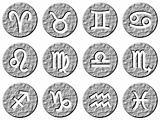 3d stone framed zodiac signs