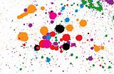 Abstract splashes and spots