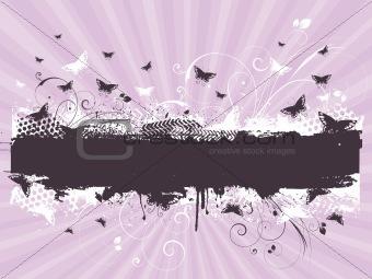 Grunge butterflies
