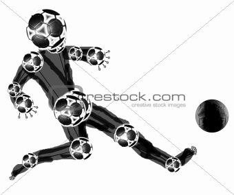 Black mascot