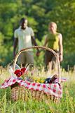 couple picnicking